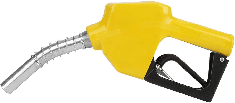 Boquilla de combustible diesel Boquilla de combustible automática duradera de mano, Boquilla de combustible, Herramienta dispensadora de aceite de aluminio Amarillo para fábricas