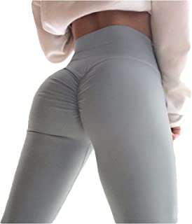 8e47ab5a873 YOFIT Women Tummy Control Ruched Butt Sexy Yoga Pants High Waist Depot  Workout Stretchy Leggings Trousers