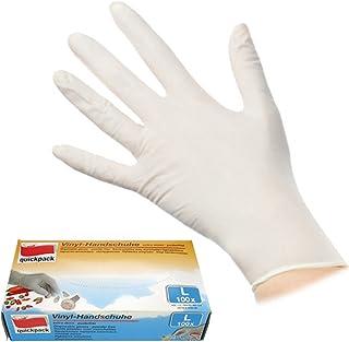 lahomie Schnittfeste Handschuhe,Sicherheitshandschuhe 50Pairs M puderfreier Schutz der H/ände Box Einweg-PVC-Untersuchungshandschuhe Klarer