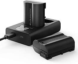 EN-EL15 EN-EL15A Nikon Battery Charger Set, FLOUREON Replacement Battery for Nikon D7000, D7100, D7200, D7500, D800, D800E, D500, D600, P520, D810A, D850, P530, D610, D810, D750, Z6, Z7