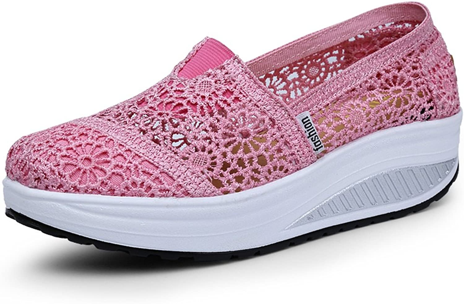 Breathable Lace Shake shoes Women's shoes 2018 Spring and Summer Female Net shoes Female Shallow Mouth Casual shoes