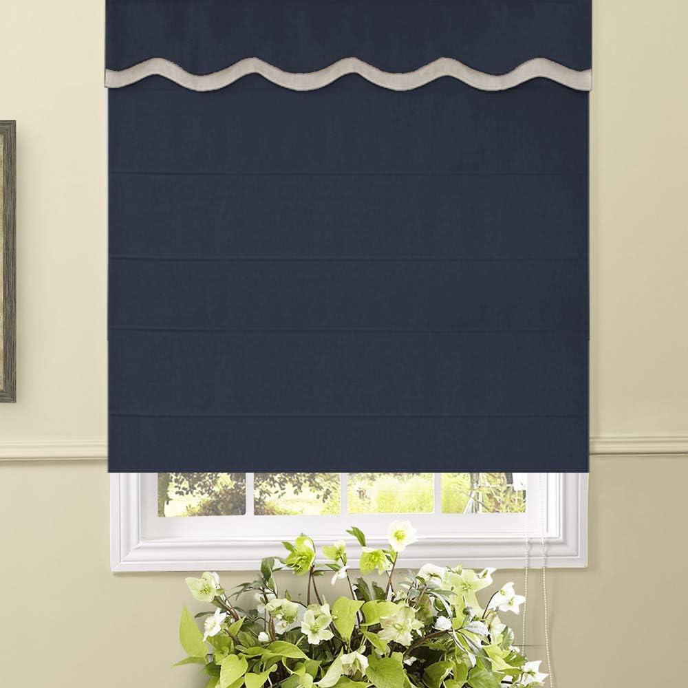Artdix Roman Shades Blinds Window - 84 Blue x W Navy 注文後の変更キャンセル返品 26.5 日本未発売