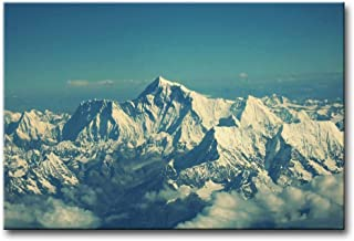 YIBEN Canvas Print Wall Art Picture for Home Decor Mount Everest Snow Mountain Blue Sky Paintings Modern Giclee Stretched and Framed Artwork Oil The Landscape Pictures Photo Prints On Canvas