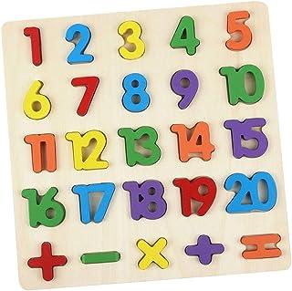 AiTuiTui Tränummer pusselbräda, 1–20 siffror och aritmetiska barn småbarn förskola lärande leksaker för tidigt lärande fle...
