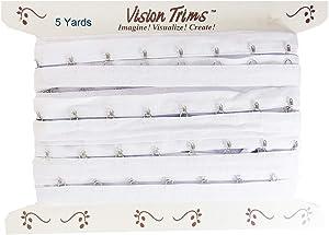 5 Yards Pair Hook and Eye Trim- 1