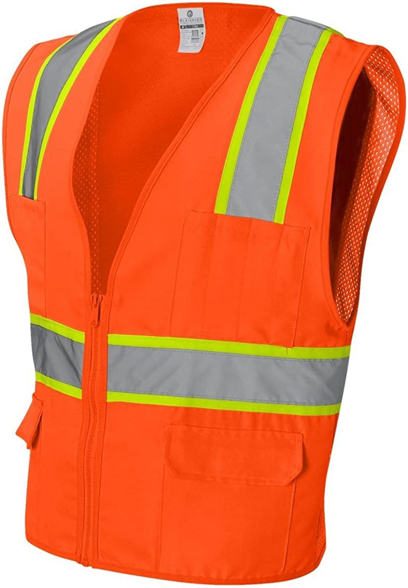 ML Kishigo Solid Very popular Front Vest with 1163-1164 Animer and price revision X Orange Back Mesh