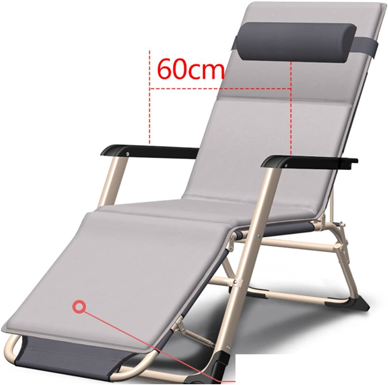 Folding Bed Single Bed Couch Folding Chair Bed Rest Office Simple Bed Camp Bed Nap Bed Portable Bed-H