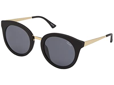 QUAY AUSTRALIA QUAYxBenefit Shook (Matte Black/Smoke) Fashion Sunglasses