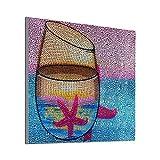 5D DIY Pintura de Diamante Kits Taladro Completo Vaso 30x30cm Bricolaje Round Crystal Rhinestone por Numeros Painting Bordado Punto de Cruz Diamond Arte Manualidades para Decor de Pared del Hogar R10