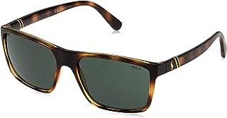 نظارة شمسية من بولو رالف لورين للرجال 0Ph4133 500371 59 , بني (هافانا/أخضر)