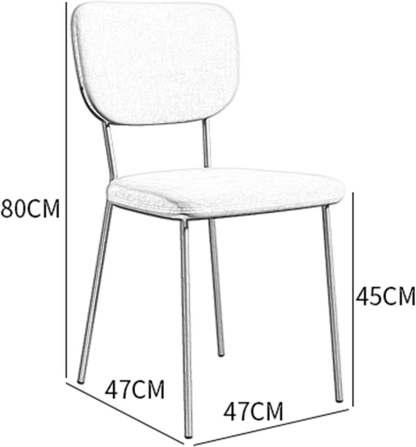 Europe du Nord Chaises de salle à manger Siège en velours Jambes dorées Pattes métalliques robustes Moderne Chaise cuisine for Bureau Salle à manger 1 PCS (Color : Green) Green