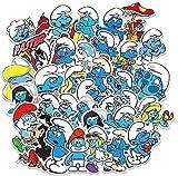 Anime Pitufos Cartoon Graffiti Pegatina Equipaje Portátil Coche Impermeable Etiqueta JXNB