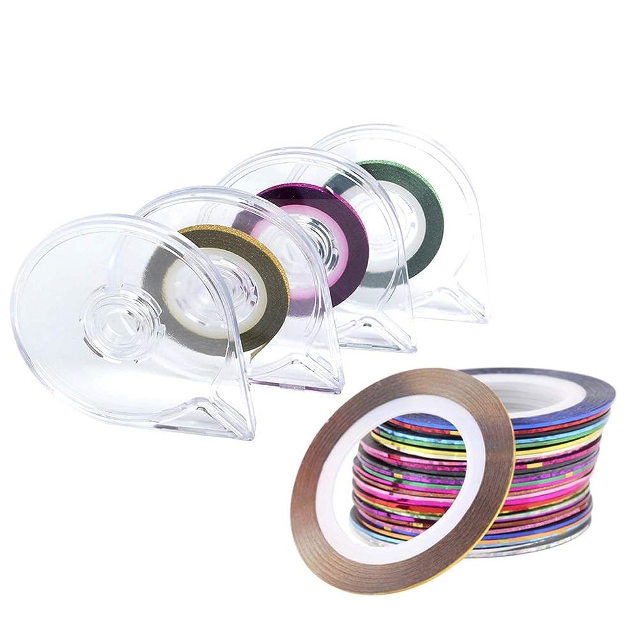 おもてなしモロニック薄めるビューティフル 女性 レーザーラインテープネイルアート用 ラインテープ シート ジェルネイル用 マニキュア セット ジェルネイル アート用ラインテープ 専用ケース付き 30ピース (Color : Mixed Colour)