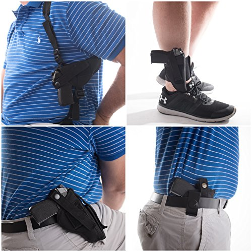 GUN HOLSTER BUY 1 GET 3 FREE HIP SHOULDER CONCEALED FITS ANKLE SCCY CPX-1 CPX-2 CPX-3 MAKAROV 380 9 X 18 BERSA THUNDER 380 22 KAHR MX PM CW40 CM9 RUGER SR22 L22-75 BERETTA CHEETAH 81 84 85 2