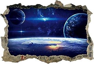 comprar comparacion LAMEIDA Pegatina de Pared de vinilos Decorativos 3D Planeta Series Etiqueta extraíbles de Estrellada Adhesivo de Pared Tri...
