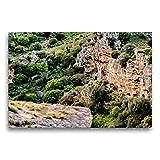 CALVENDO Premium Textil-Leinwand 75 x 50 cm Quer-Format Felsenkirche von Matera, Leinwanddruck von Carmen Steiner