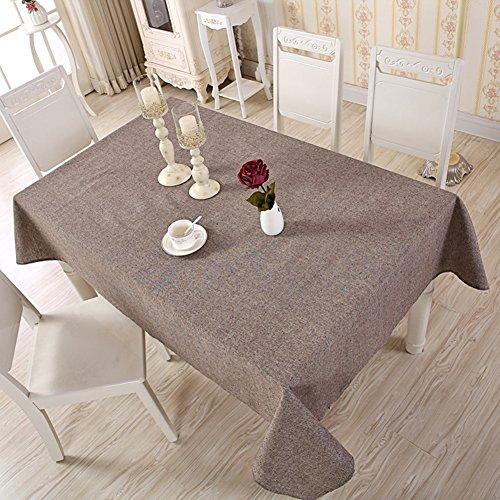 Nappe rectangulaire en coton et lin, Tissu, café, 120x120cm