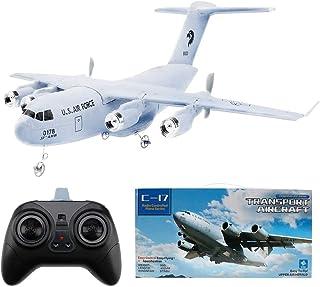 Makerfire Avión RC C-17 Transporte EPP DIY Aviones 2 Canales 2.4Ghz Control Remoto 3-Axis Gyro Airplane Toy RTF