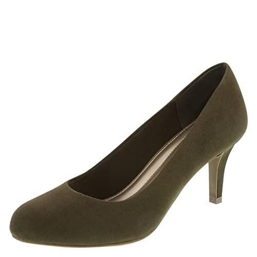 fcc77191063 Predictions Comfort Plus Women s Olive Suede Women s Karmen Pump 7.5 Regular