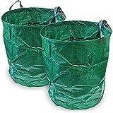 CampTeck 2x 500 Litri Sacchi per Rifiuti da Giardino Robusta Polipropilene Riutilizzabile Borsa da Giardino