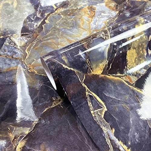 Mesoar Marmor-Klebepapier, für die Arbeitsplatte, Granit, Vinyl, dekorative Folie, selbstklebende Rückseite, Kunststoffrolle, 40 x 200 cm