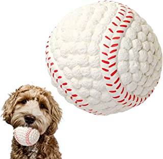 EETOYS Soft Latex Squeaky Dog Chew Toy with Squeaker Floating Bouncing Ball for Interactive Training Fetch and Play (Large...