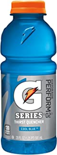 Gatorade 32481 Wide Mouth, Cool Blue, 20 oz, Bottle (Pack of 24)