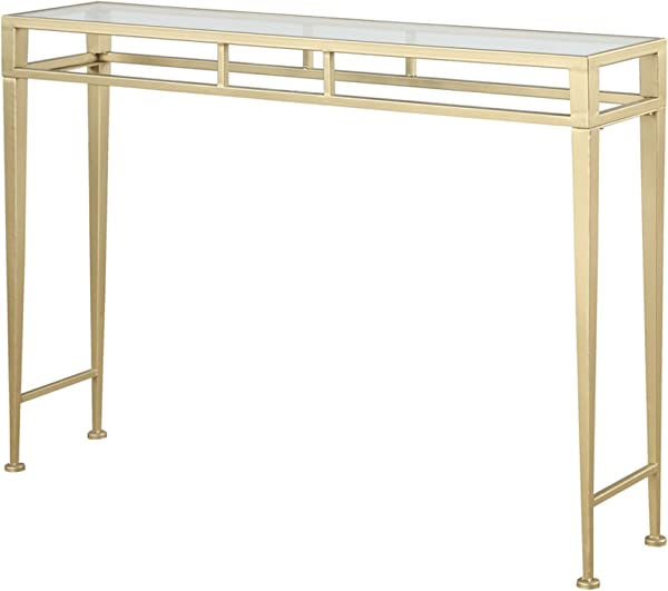 Convenience Concepts Coast Collection Julia Hall Console Table Gold