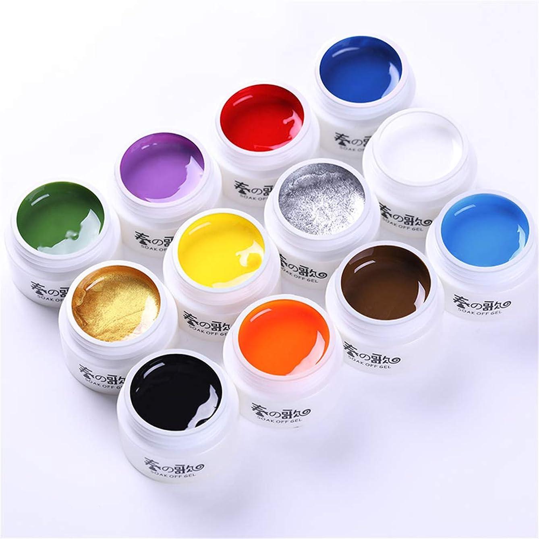 経済漂流チーム春の歌 アート専用のカラージェル ライナージェル ものすごく色が濃いカラージェル ラインを引くためのジェル、アクリル絵の具よりも柔らかく使いやすいジェル LED/UV両方対応 [並行輸入品]