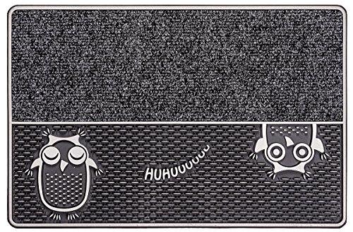 CarFashion 322360A Outdoor Fußmatte Pur|DualClean Fussmatte, Türmatte, Fußabtreter, Schmutzfangmatte, Sauberlaufmatte, Eingangsmatte für Innen und Aussen, Größe Ca. 59 x 39 cm