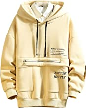 Sixpi Men's Casual Fashion Plus Size Printing Hoodie Fleece Sport Sweatershirt Tops