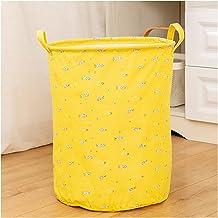 JUNQIAOMY Kosz do przechowywania 1 szt. składany kosz na pranie duża pojemność pojemnik na pranie pralnia (kolor: żółty)