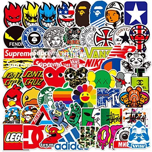 Coole Band Aufkleber 100 Stuck Skateboard Aufkleber fur Jugendliche zufallige Stickerbombe Marken Aufkleber fur Skateboard Fahrrad Laptop Wasserflaschen 100 Stuck