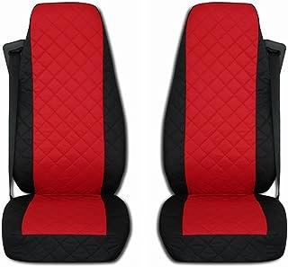 TEXMAR LKW Sitzbezüge, passend für Mercedes – Benz Actros MP3 2000–2014, schwarz und rot, 2 Stück