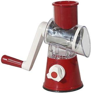 lifcasual أواني طهي متعددة الوظائف طبل مبشرة دوارة يدوية شرائح coleslaw جبنة طاحونة حمراء