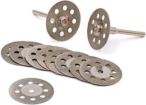 popular YEEZUGO 10 pcs 2021 Diamond Cutting Wheel Cut Off outlet sale Discs Coated Rotary Tools W/Mandrel 22mm for Dremel sale