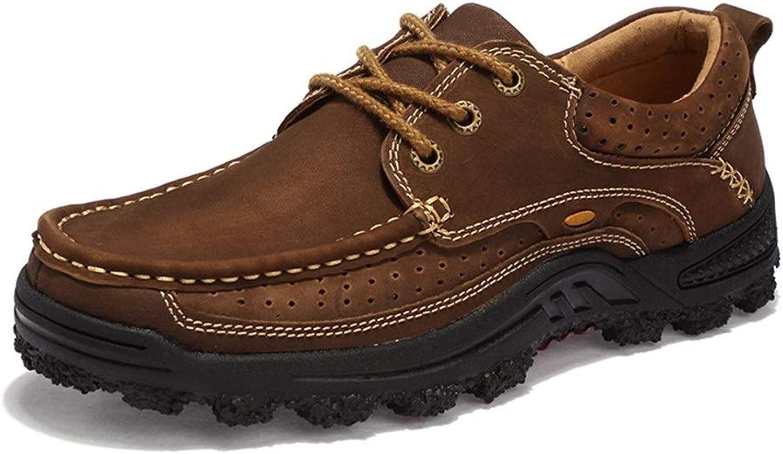 EGS-schuhe Herren Outdoor Wanderschuhe Für Sportkletterschuhe Schnüren Kunstleder Hohl Wasserdicht,Grille Schuhe (Farbe   Braun, Größe   40 EU)
