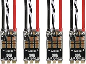 NIDICI BLHeli-32 30A ESC 32bit Brushless Electric Speed 2-4s Controller for DShot1200 FPV Racing Drone (Pack of 4)