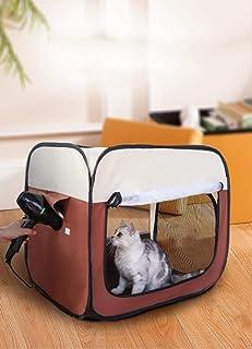 ペットの乾燥ボックス ペット乾燥箱 ペット乾燥ケース キャリーバッグ 猫 犬 兼用 速乾 お風呂後 通気 軽量 折りたたみ 清潔便利 収納袋付 ペット用品ドライルーム ヘアドライヤー グルーミング ハウス ドライヤー付かない