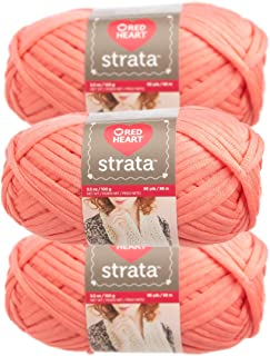 strata red heart yarn