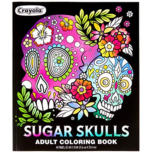 Crayola Sugar Skulls Coloring Book, Gift for Teens, 40 Coloring Pages