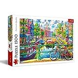 Trefl- Ein Kanal in Amsterdam 1500 Teile, Niederlande, Premium Quality, für Erwachsene und Kinder AB 12 Jahren Puzzle, Color Coloreado (26149)