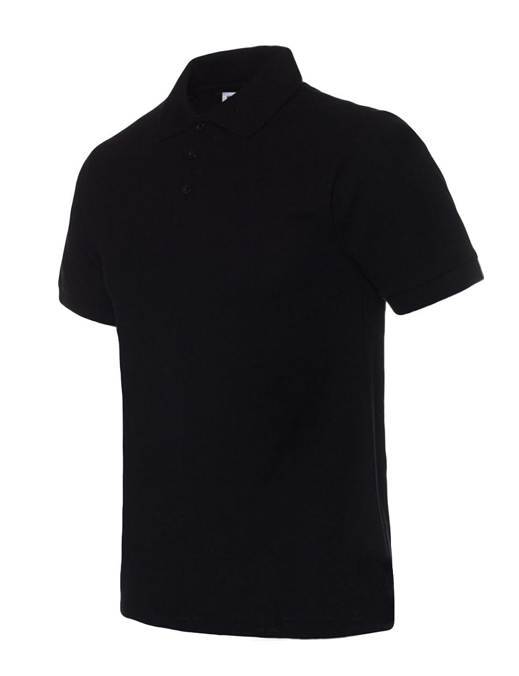 傷跡薬用特別なビエスディディ メンズ 全14色 コットン 無地 カジュアル ストレートタイプ 半袖 シンプル ポロシャツ