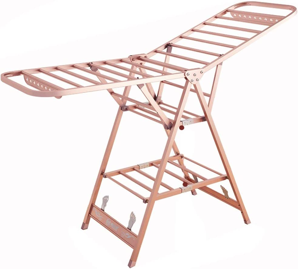 Home Fold Drying Rack Max 68% OFF Landing Alloy Indoor and Shipping included Aluminum Outdoor