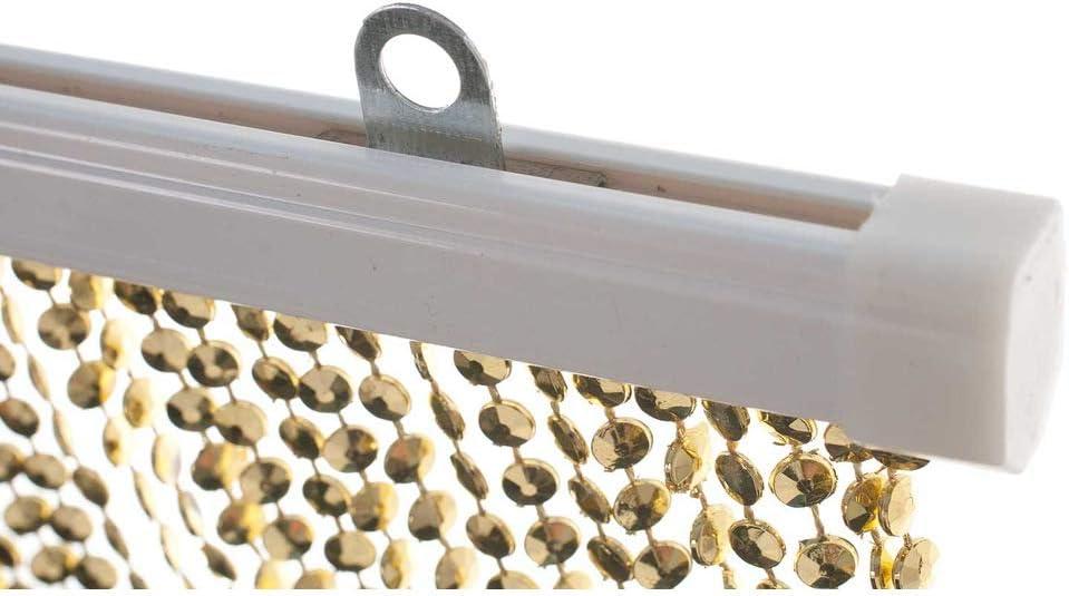 HAB /& GUT T/ürvorhang Mini-DIAMANTEN 90x200 sehr dicht HELLBLAU//BLAU Insektenschutz Perlen Pailettenvorhangg