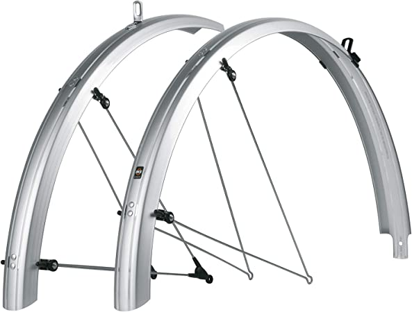 SKS Trekking mudguards Bluemels 28 inch 53mm silver with spoiler and tail light