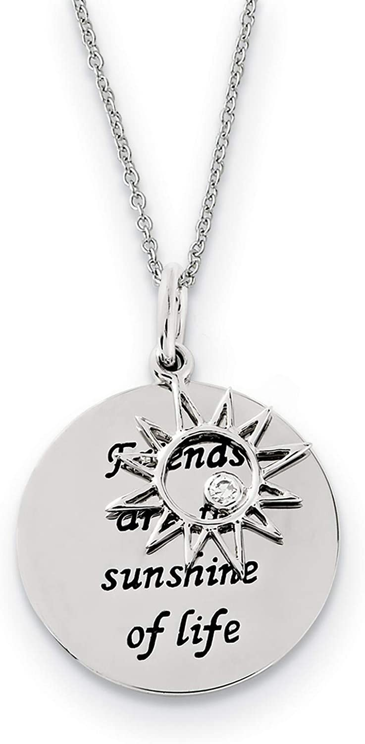 Friends Are Max 59% OFF The Sunshine Of Life Neckl Sun online shop Pendant Words And