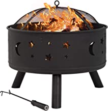 """24"""" Fire Pit Portable Outdoor Firepit Wood Fireplace Heater Patio Deck Yard"""