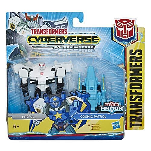 Hasbro Transformers- Cyberverse Prowl con Spark Armor, se combina con el vehículo Cosmic Patrol para potenciarse, Apto para niños a Partir de 6 años, 10 cm, Multicolor, E4295ES0