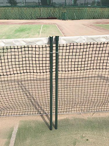 硬式テニスコートシングルスポール 錆びない樹脂コーティング
